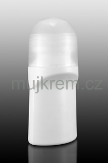 Bílý roll-on (deo-stick) 75ml, transparentní víčko
